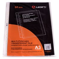 Файл-вкладыш с перфорацией А3 0,050мм, 50шт/упак