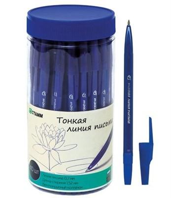 """Ручка масл. шариковая СТАММ РК20 """"Тонкая линия письма"""" синяя, 0,7мм - фото 4673"""