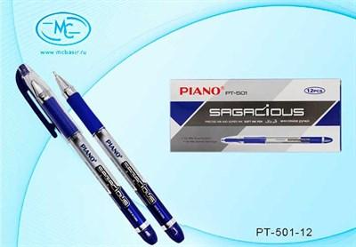 Ручка масл. шар. Piano Sagacious PT-501-12 синяя, 0,7мм - фото 4679