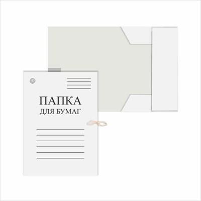 Папка для бумаг с завязками, белая DOLCE COSTO, 220 г/м2 - фото 5010