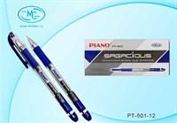 Ручка масл. шар. Piano Sagacious PT-501-12 синяя, 0,7мм