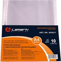 Файл-вкладыш Lamark с перфорацией А4, 0,040 мм 10 шт./упак
