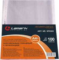 Файл-вкладыш Lamark с перфорацией, А4+, 100 шт./упак